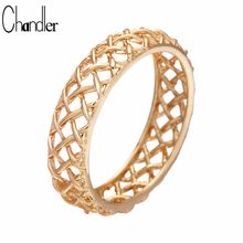 Chandler Weave X Ring Eternity Golden Rotating Rings For Women Men Hollow Out Geometrical Simple Casual Homme Bijoux Garnet Ring(China)