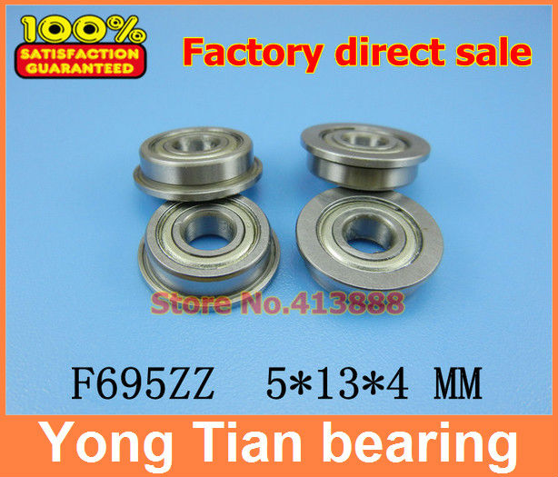 10Pcs F695 F695-ZZ F695ZZ F695-2Z F695Z zz z 2z F619/5 DDLF-1350ZZ Flanged Flange Deep Groove Ball Bearings 5*13*15*4*1 mm free shipping 50 pcs fr1810zz fr18102z fr1810 2z flanged bearings 5 16 x 1 2 x 5 32 inch flange ball bearings rif 8516zz