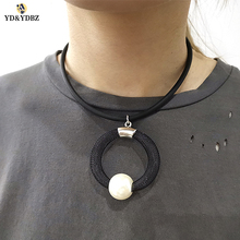 YD&YDBZ New Handmade Round Pendant Ladies Choker  Clothing Accessories Pearl Necklace Fashion Girl Party Items
