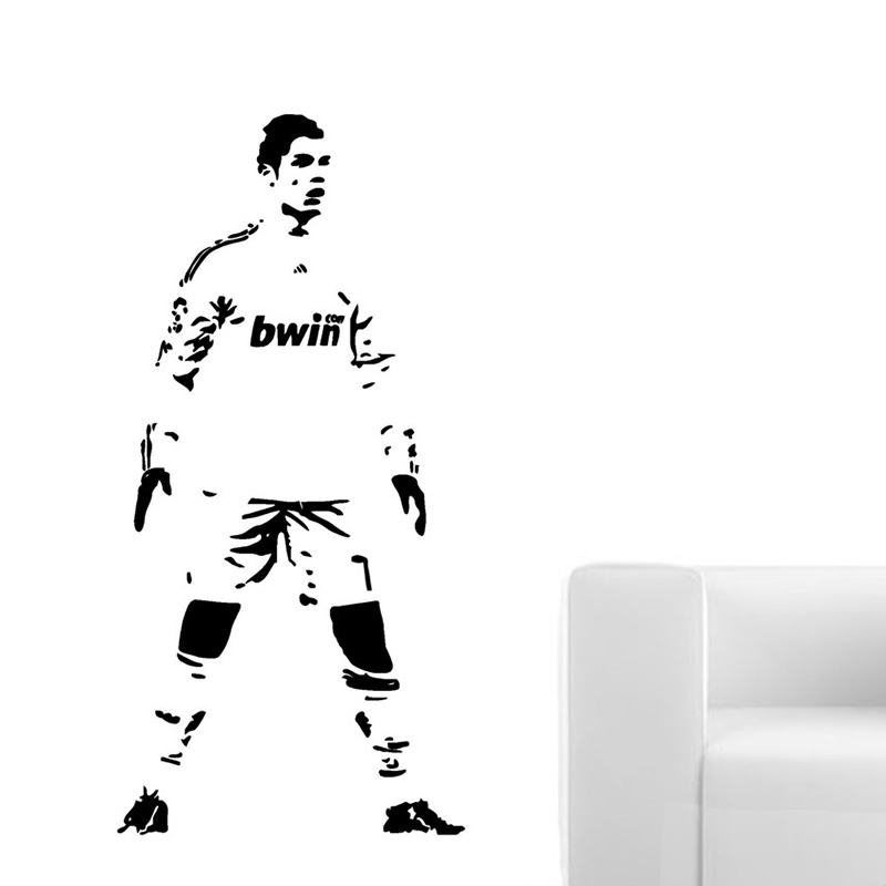 Cristiano Ronaldo Football Player Children/'s Bedroom Wall Art Sticker Picture