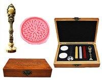 Vintage Fancy Flower Blossom Custom Luxury Wax Seal Sealing Stamp Brass Peacock Metal Handle Sticks Melting