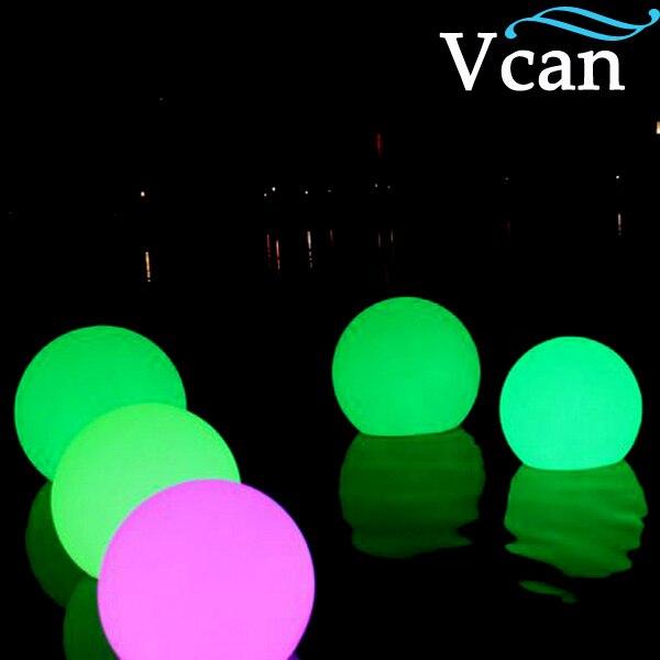 20 см, бесплатная доставка, RGB пульт дистанционного управления, изменение цвета, светодиодный шар для клуба или сада, VC B200 - 2