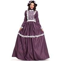 Purple Victorian Maiden Dress Civil War Ball Gown Renaissance Medieval Frontier Pioneer Dress Historical Reenactment Costume