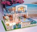 Free shipping DIY hut ultra-luxurious indoor pool villa/ Assemble Villa Doll Home/ Wooden Miniature DIY girlfriend gift