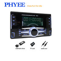 2 Din Car Radio Bluetooth Autoradio Stereo Audio USB MP3 Player TF A2DP Handsfree ISO In dash Head Unit PHYEE SX MP36301BT