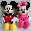 Горячие Продажа Прекрасный Микки Маус и Минни Маус Кукла Большой плюшевые Мягкие Кукла Девушка Подарок На День Рождения Дети Дети Ребенок игрушки