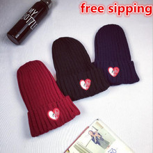 2016 Character Sale New Fashion Casual Adult Winter Love Glasses Pattern Knitting Hat Outdoor Skullies And Beanies Women Hats