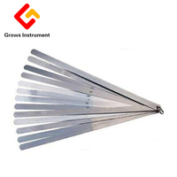 50cm 20 Blades Feeler Gauge Metric Gap Filler Thickness Gage Measurment Tool 0.05 To 1mm Newest High Strength Metric Long Feeler