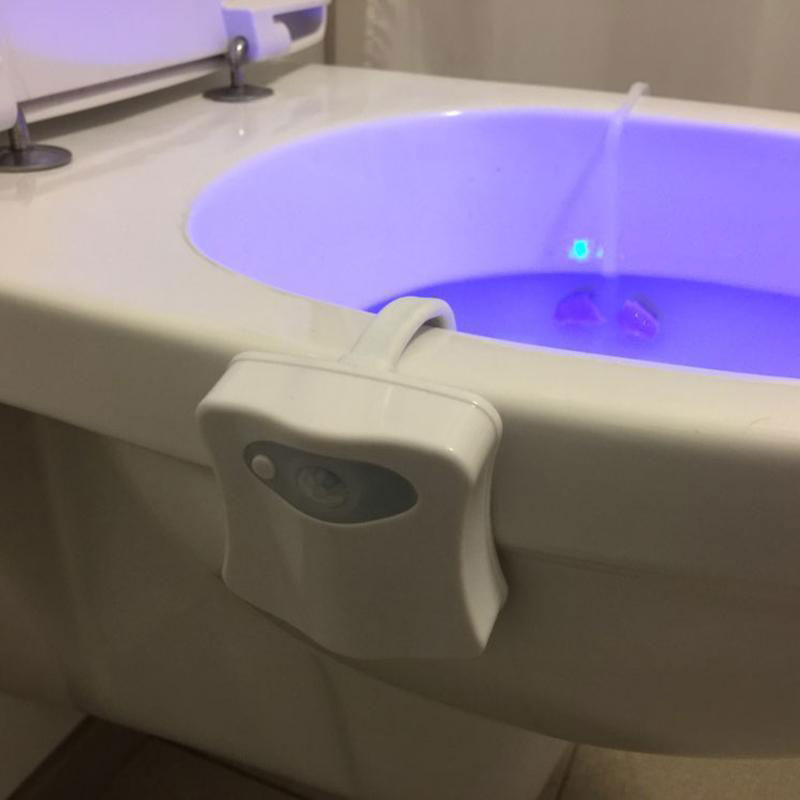 Luzes da Noite À prova d' Água para Modelo Número : 8 Colours Motion Sensor Led Toilet Light