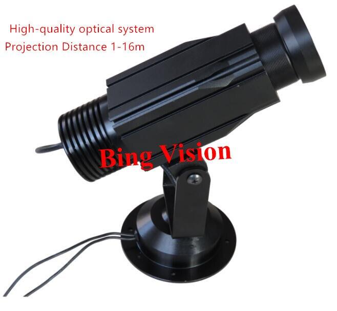 Haute qualité LED gobo publicité image projecteur lampe logo LED lumière de projection, 12 w projection statique 3 couleurs