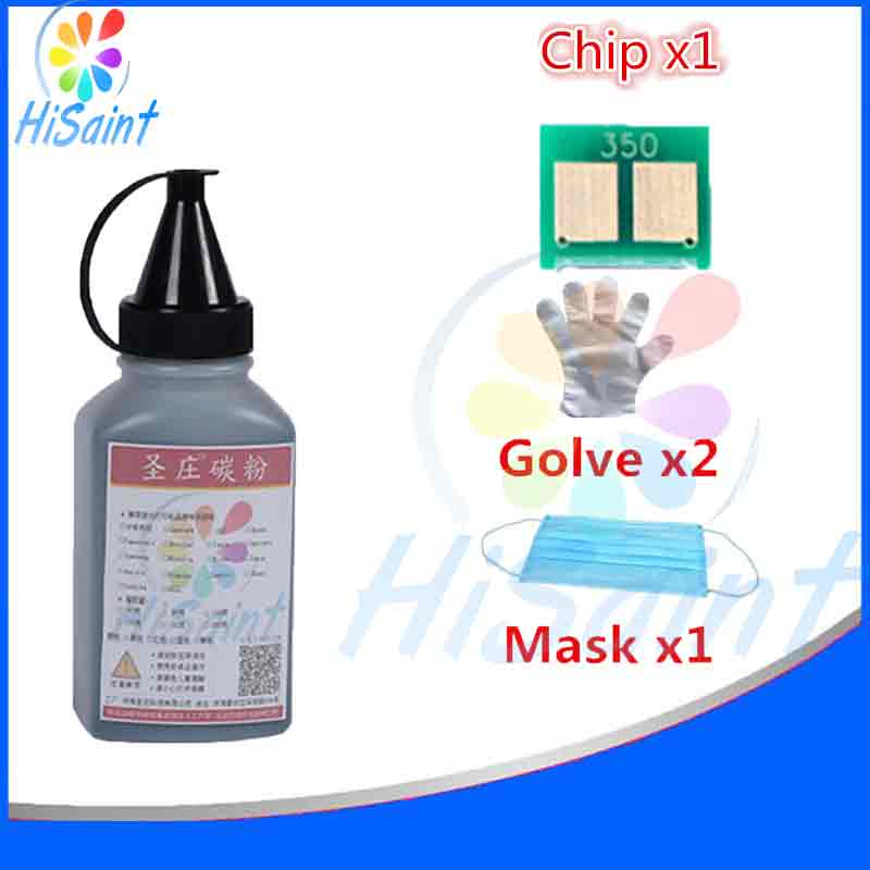 1BK For HP CB540A Color Laser Toner Powder And Chip Glove Mask LaserJet CP1215/CP1518ni Printer Panic buying