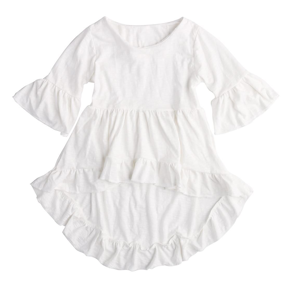 1 Stks Nieuwe Kids Baby Peuter Baby Meisjes Pretty Elegant Prinses Outfits Top Jurk Shirt Kleding 1-6 T