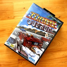 Turbo Out Run 16 Bit MD Game Card with Retail Box for Sega MegaDrive Genesis Video