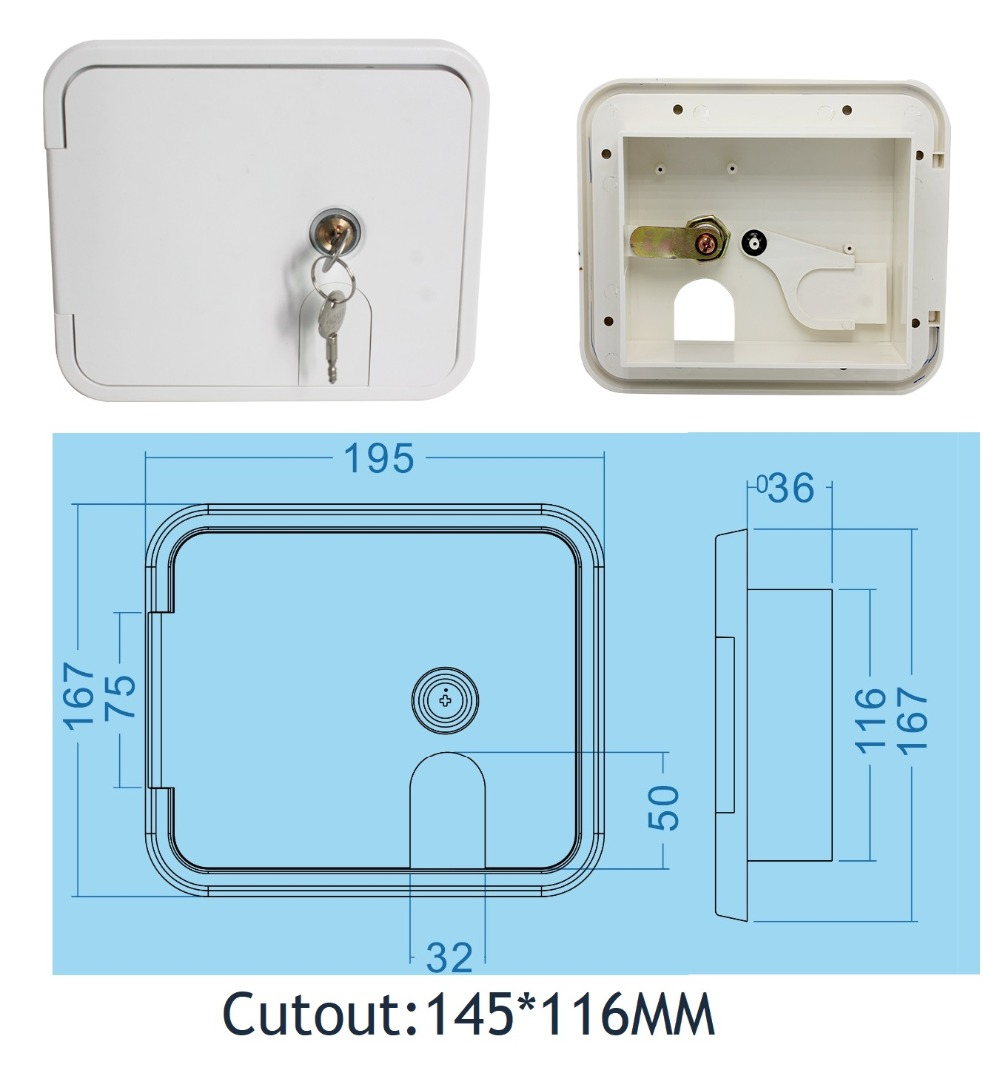 Premintehdw  Flush Side Mount Plastic RV Camper Trailer Compartment Storage Door external power supply-in Vents from Home Improvement    1