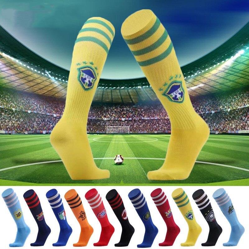 New Kid Boy Football Socks Soccer Kits Outfits Long Socks Training Stocking Set