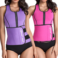 Workout Neoprene Waist Trainer Corsets Sauna Top Vest Zipper Sweat Hot Body Shaper Hot Adjustable Slimming Blet Waist Cincher