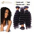 6A Rosa profunda brasileira Curly virgem cabelo Bundles 3 pçs/lote barato não transformados virgem tece cabelo humano virgem extensão do cabelo