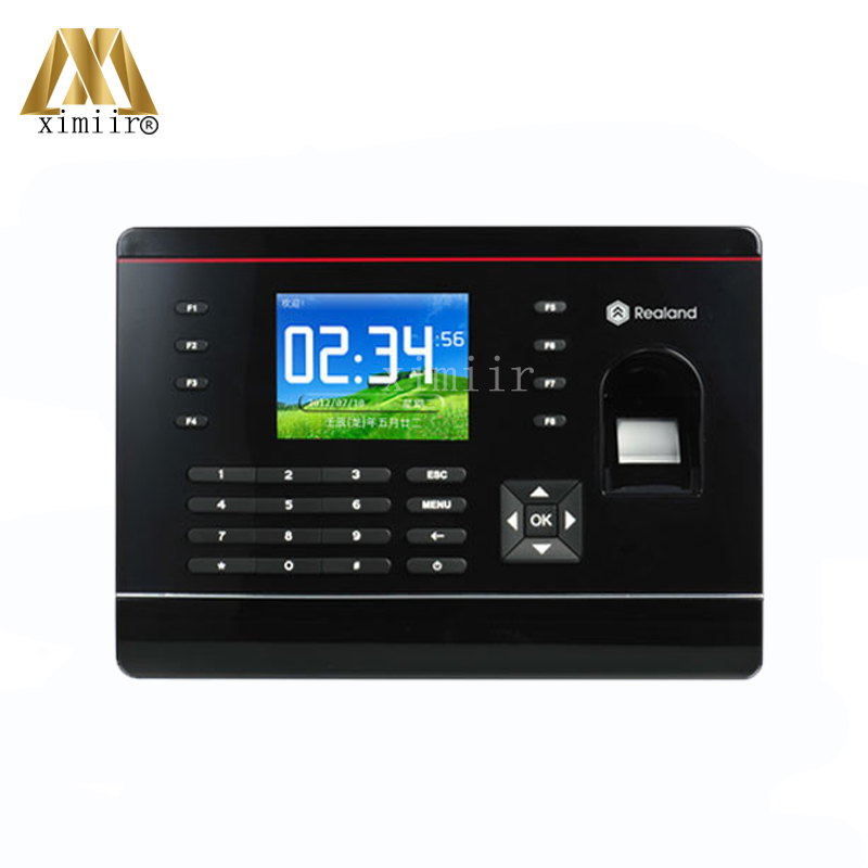 цена на Good Quality TCP/IP Fingerprint Time Attendance With RFID Card Reader 2.8inch Color Screen Time Recording Time Clock A-C061