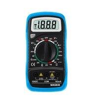 MAS838 2000 słowa małe ręczny cyfrowy multimetr z temperaturą i przypadki 830L upgrad edition