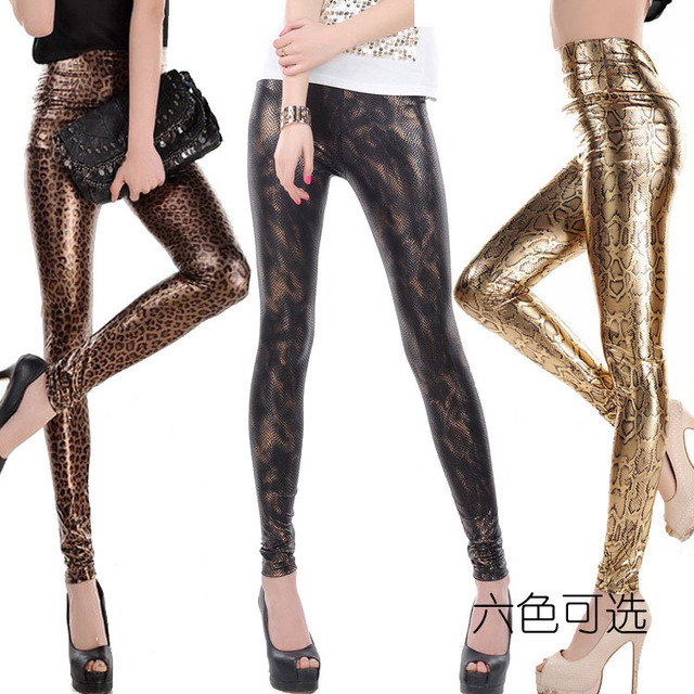 wow 2014 fashion slim pants sexy fake snake skin leopard. Black Bedroom Furniture Sets. Home Design Ideas