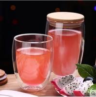 450 мл двухслойная стеклянная чашка, Теплоизоляционный чайник, термостойкий стеклянный кофе сок вина посуда, дом, офис, бар Вечерние