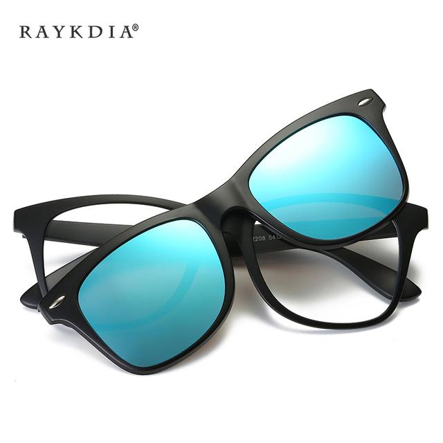 Diseñador de Moda Cuadrados de Protección radiológica Gafas de Marco TR90 Extraíble + Polarizado gafas de Sol de Las Mujeres/de Los Hombres de Clips de Gafas oculos