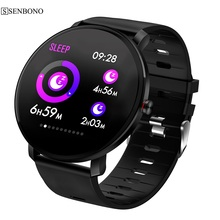 SENBONO K9 IP68 Tela IPS Cor à prova d água relógio Inteligente monitor de freqüência cardíaca de Fitness rastreador smartwatch Aptidão Esporte Pulseira