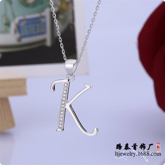 Blal011 zircon 925 silver pendants chains necklaces jewelry letter blal011 zircon 925 silver pendants chains necklaces jewelry letter k pendants free shipping mozeypictures Gallery