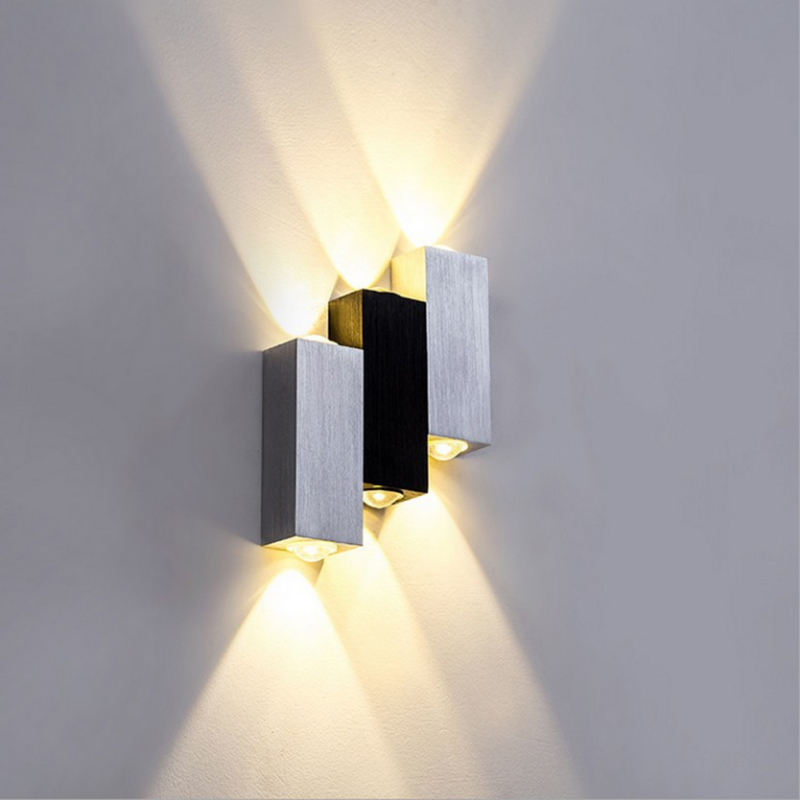 6W AC 85-265V Wall-Mounted LED Light Aluminum Fixture  sconce modern aluminum wall lamp,indoor light,170*120*30mm