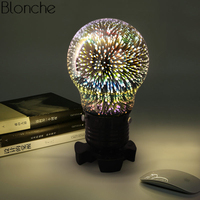 Colorful 3D Table Lamp Creative Glass Led Desk Light for Bedroom Bedside Lamp Night Lighting Fixtures Christmas Industrial Decor