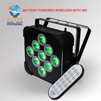 4X LOT UK STOCK Rasha IRC REMOTE CONTROL 9*15W 5in1 RGBAW Battery Powered Wifi LED Flat Par Light DMX Wireless LED Slim Par Can