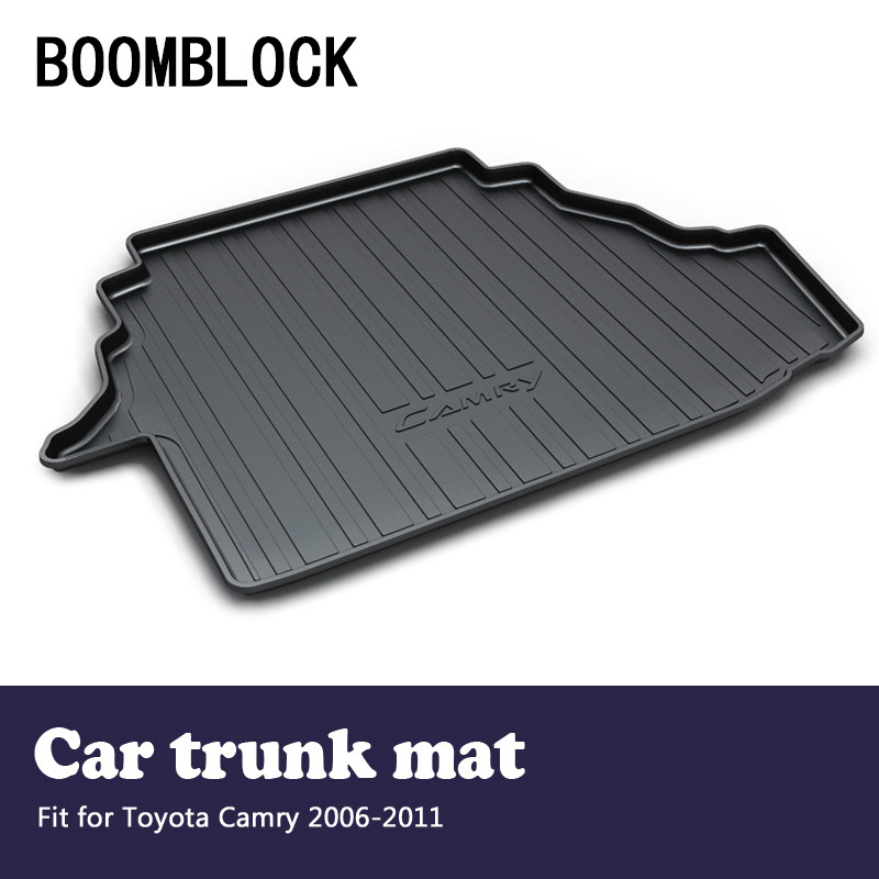 BOOMBLOCK For Toyota Camry XV40 2006 2007 2008 2009 2010 2011 Waterproof Anti-slip Car Trunk Mat Tray Floor Carpet Pad Protector for hyundai tucson 2006 2007 2008 2009 2010 2011 2012 2013 2014 waterproof anti slip car trunk mat tray floor carpet pad