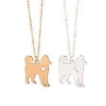 Золото и серебро 1 шт ожерелье с Хаски-Сибирской Аляски маламута Акита на заказ собака ожерелье порода Мемориальный подарок семья домашнее животное для влюбленных