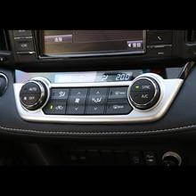 For Toyota RAV4 2013 2014 2015 2016 2017 2018 Chrome Center Console Control AC Switch Button Panel Cover Air Conditioner Trim