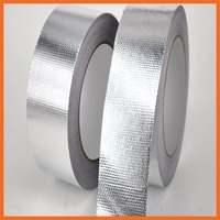 Thick glass cloth aluminum tape foil resistance high temperature fume heater for smoke exhaust pipe sealing 300mmx25m