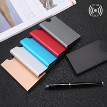luxury credit card holder Men Women Aluminum Slim ID Credit Card Protector Holder Purse Wallet