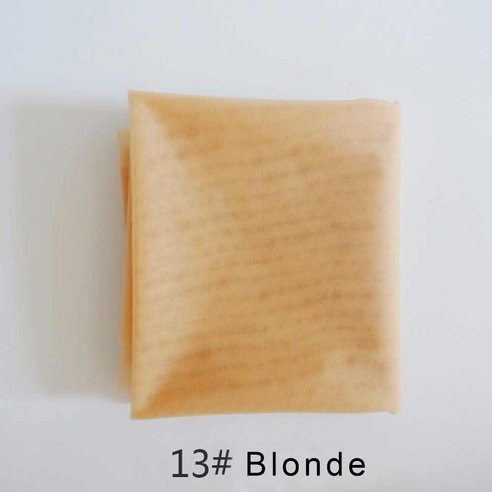 Bege 1 jarda rede de renda suíça para fazer peruca peruca peruca fechamento superior fundação acessórios cabelo monofilamento