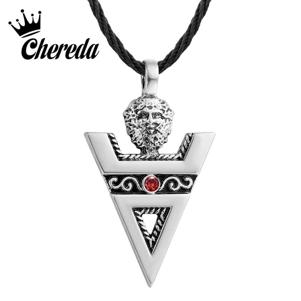 Chereda Veles Sign męskie naszyjniki słowiańska kultura pogański znak antyczny srebrny Amulet ręcznie wisiorki biżuteria