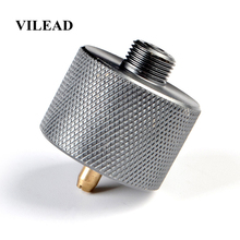VILEAD Camping Gas Stove Adapter Split Type Furnace Converter Connector Auto-off Aluminum Alloy Adapters Outdoor Hiking Picnic