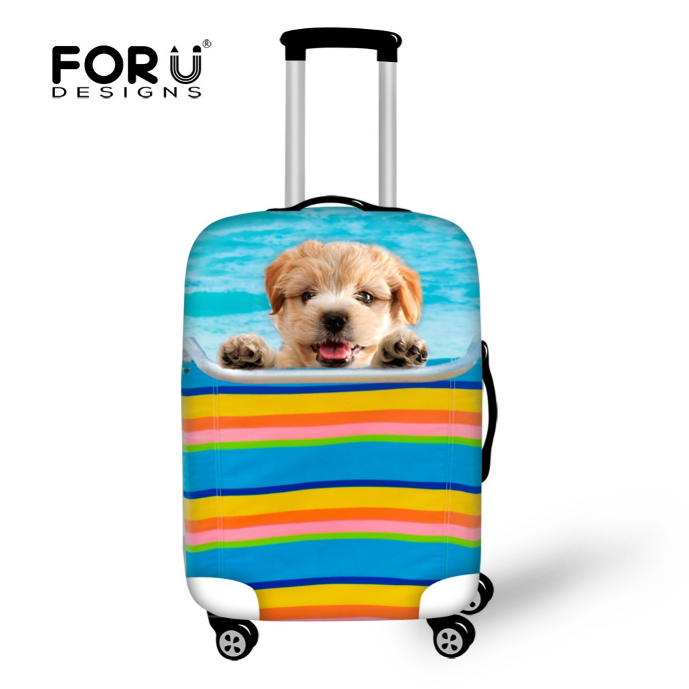 Kawaii Pet Dog Design Luggage Protective Covers,Funny Animal Travel Accessories Suitcase Cover for 18 24 28 30 Inch Trolley Case