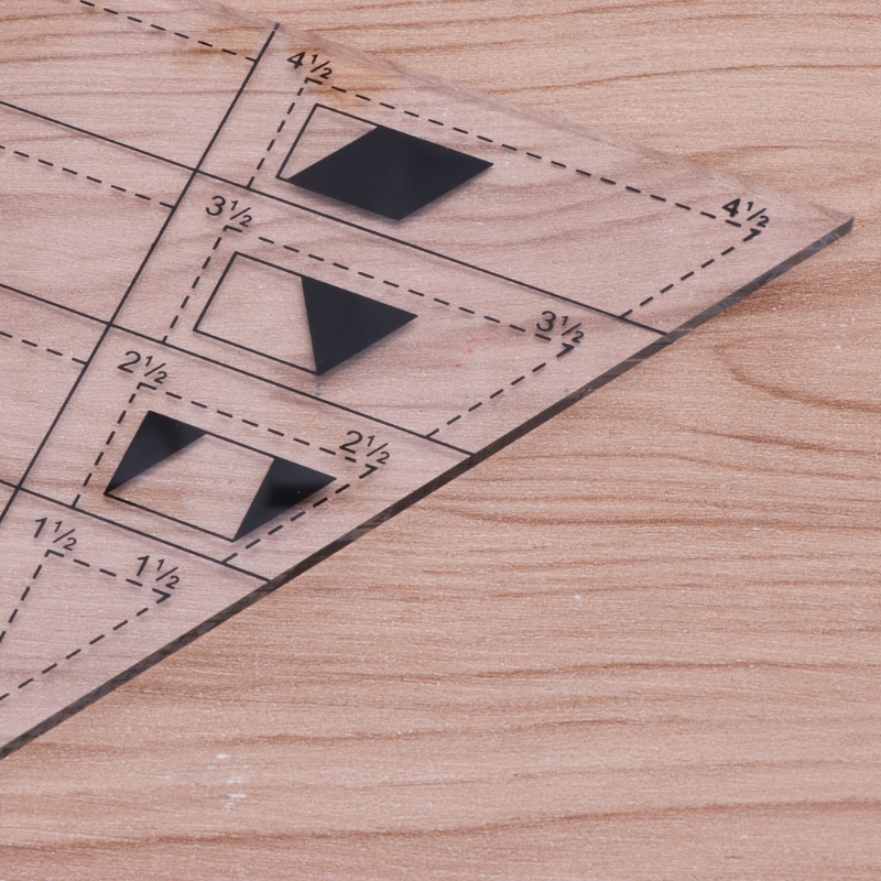 2020 New Shape Measure Trapezoid Quilts Plastic Ruler DIY Patchwork Sewing Tools