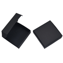 10.4x9.2x3cm Black Kraft Paper Package Paperboard Box Card Tags Photo Cardboard Boxes Jewelry Gift Storage Retail