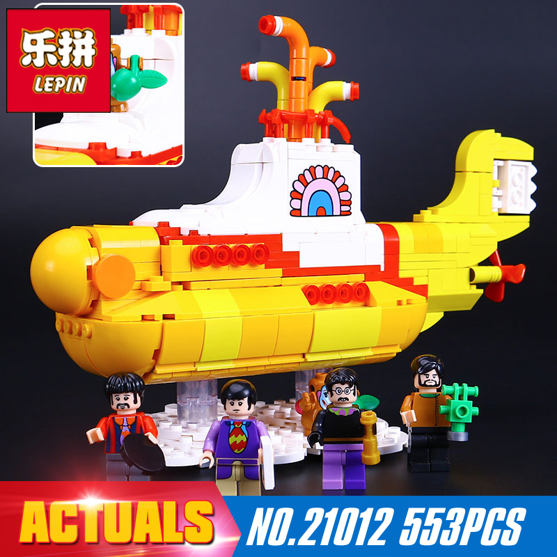 2017 New Lepin 21012 553Pcs The beatles yellow submarine Building Blcoks Bricks Toys 21306 Funny gift to