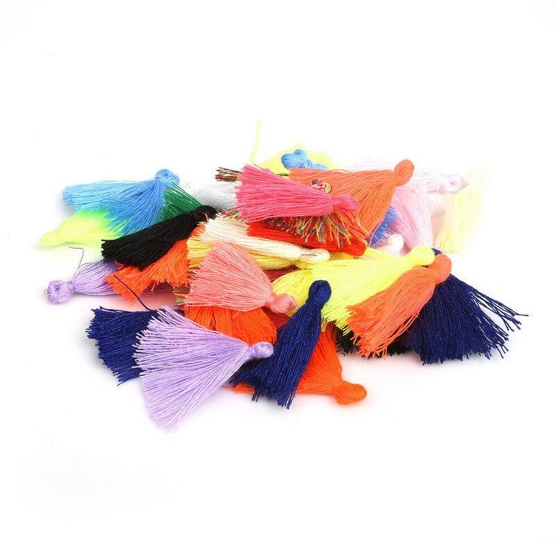 50 шт. 27 мм Маленькая хлопковая нить ткань кисточка сделай сам кулон ювелирные изделия браслет брелок отделка бахрома крафт кисточки Швейные...