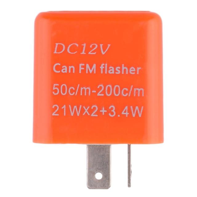 2 Pins 50C/m-200C/m Motor LED Flasher Relay Fix 12V Flash Speed Adjustable Motorcycle Turn Light Signal Indicator Resistor