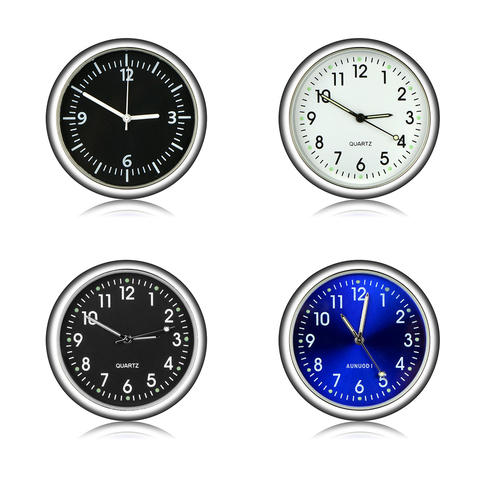 Car Ornament Automotive Clock Auto Watch Automobiles Interior Decoration Stick-On Clock Ornaments Accessories Christmas Gifts Karachi