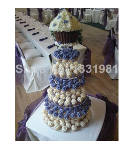 The new special offer package mail 7 tier of acrylic frame I wedding cake Sweet box gift box frame acrylic cupcake stand
