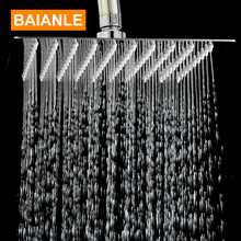 Free Shipping Stainless Steel Square Power Shower Head Bathroom Shower Faucet Head Rain Ultrathin Shower Head