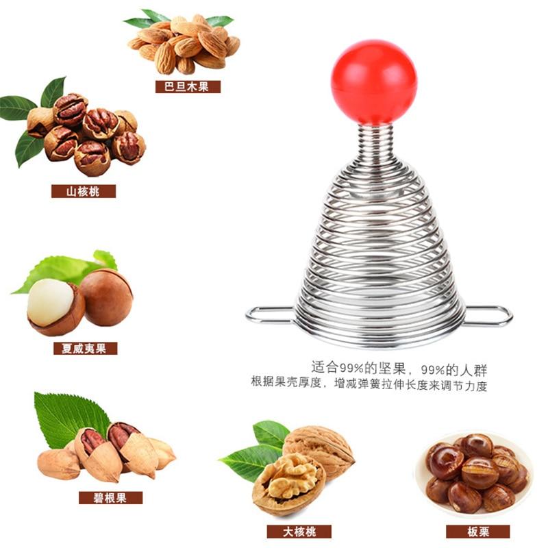 Creative Metal Spring Nutcracker Open Walnut Artifact Stainless Steel Nut Crackers Open Professional walnut tools