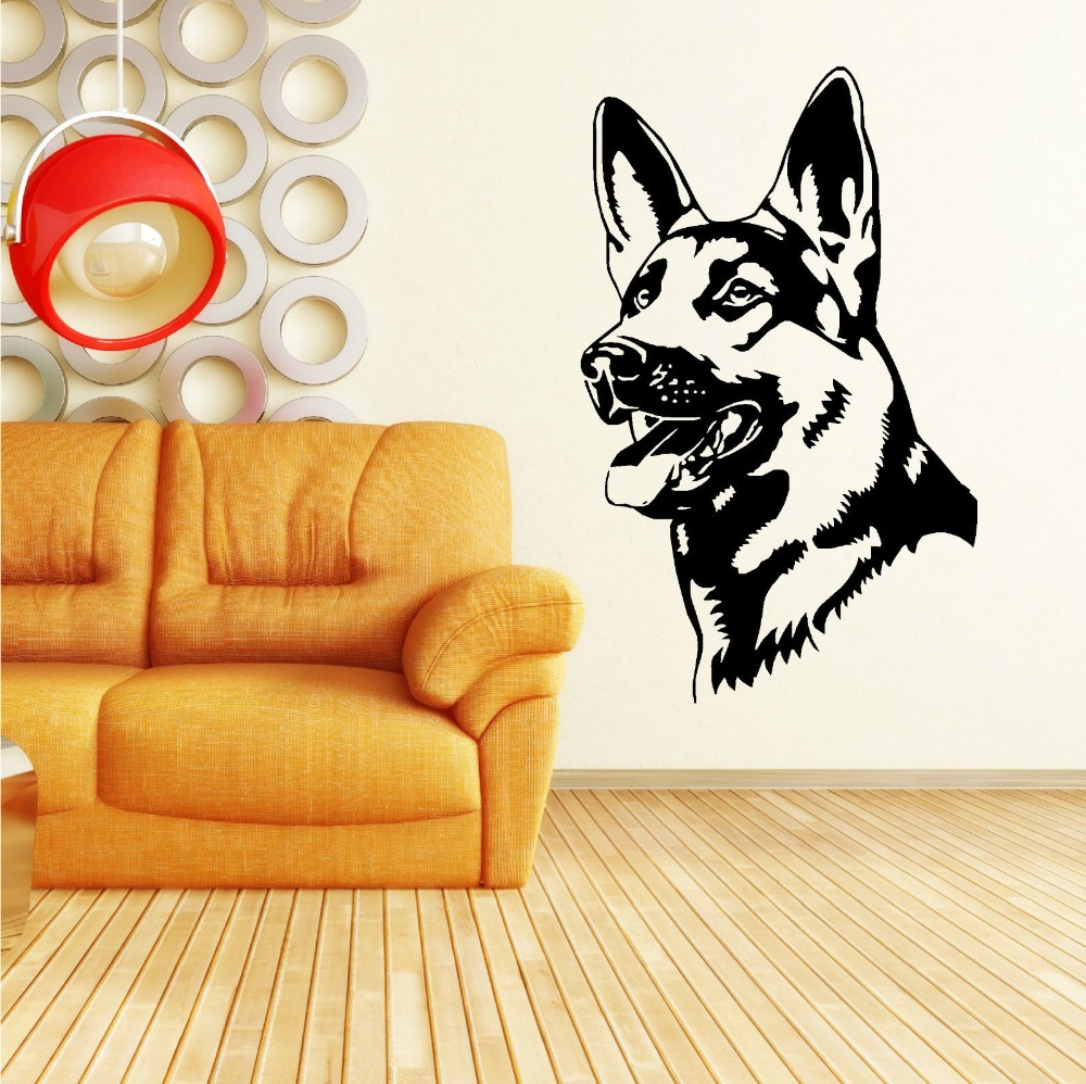 Three Size Removable German Shepherd Alsatian Dog Vinyl Wall Art ...